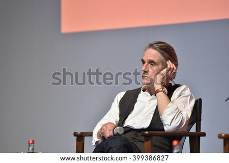 ANTALYA,TURKEY - NOV 28: Actor Jeremy Irons Portrait on November 28, 2015 in Antalya, Turkey.