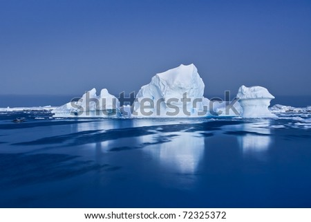 Antarctic Glacier in the snow - stock photo