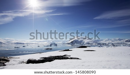 Antarctic Landscape - stock photo