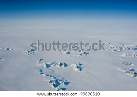 Antarctic landscape - stock photo