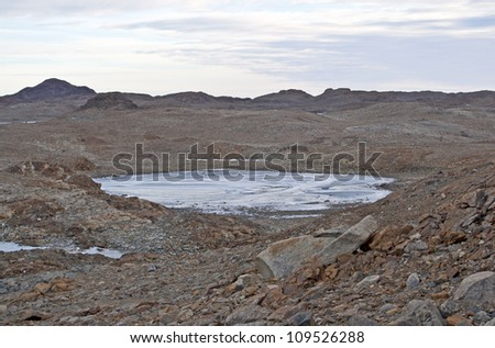 Antarctic oasis - stock photo
