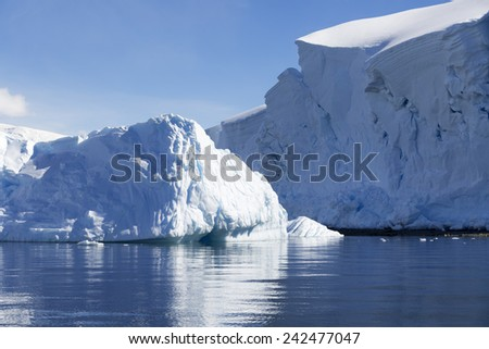Antarctic. Travel on the scientific vessel among ices. Studying of a phenomenon of global warming. Ices and icebergs of unusual forms and colors.