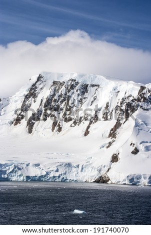 Antarctica - Antarctic Peninsula - Palmer Archipelago - Neumayer Channel - Global warming - Fairytale landscape / Summer In Antarctica - stock photo
