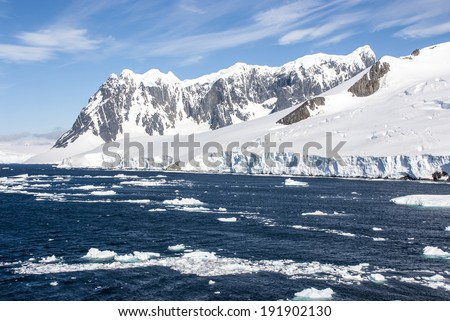 Antarctica - Antarctic Peninsula - Palmer Archipelago - Neumayer Channel - Global Warming  / Summer In Antarctica  - stock photo