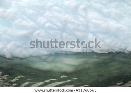 Antarctica - Non-Tabular Iceberg Floating In The Southern Ocean - Dry-dock Iceberg - close up - Travel Destination