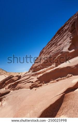 Antelope Canyon in Arizona. Vertical Image Composition - stock photo