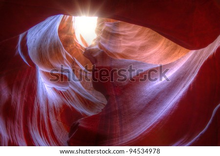 Antelope Canyon is the most visited slot canyon in the Southwest USA due to its right combination of depth, width, length, rock color and ambient light.