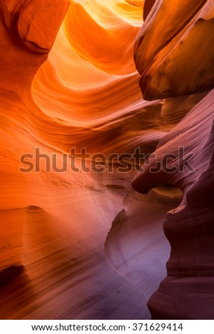 Antelope slot canyon in Arizona, USA.