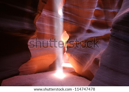 Antelope Slot Canyon, Page, Arizona, USA. - stock photo
