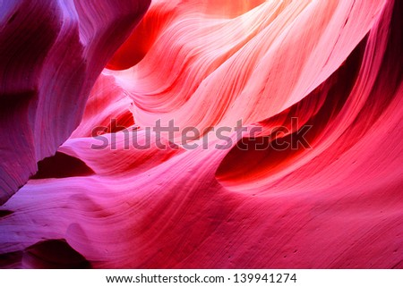 Antelope Slot Canyon, Page, Arizona, USA. - stock photo