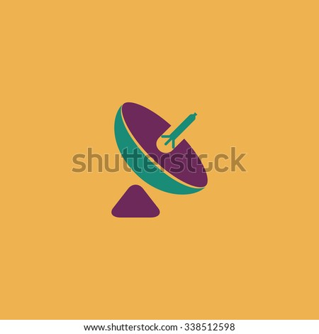 Antenna. Colored simple icon. Flat retro color modern illustration symbol