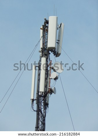 antenna, communication networks. - stock photo