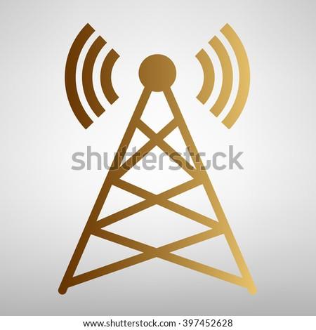 Antenna sign. Flat style icon - stock photo