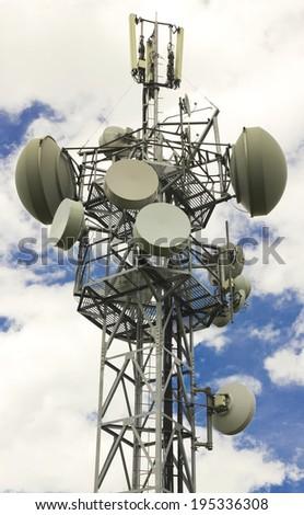 Antenna tower - stock photo