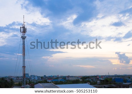 antenna tower for communication system