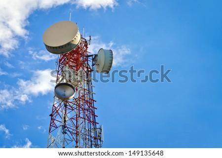 Antenna Tower of Communication  - stock photo