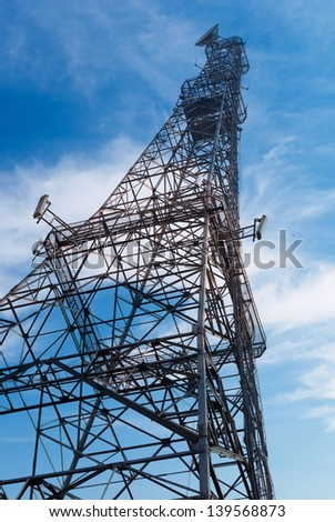 Antenna with blue sky