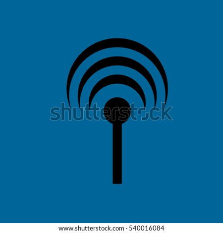 antenna with signal icon .flat design