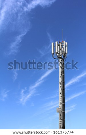 Antennas for mobile phones mounted on the high tower
