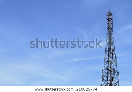 antennas of cellular communication - stock photo