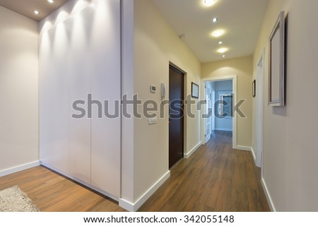 Anteroom interior in modern apartment - stock photo