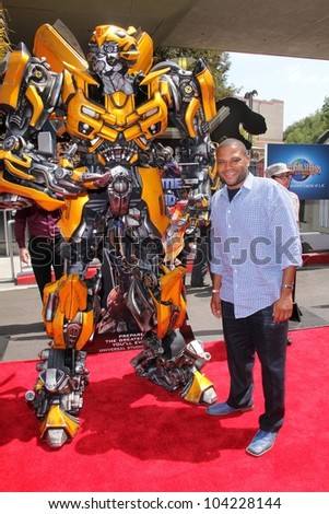 """Anthony Anderson at the World Premiere Of Universal Studios Hollywood's """"Transformers: The Ride-3D,"""" Universal Studios Hollywood, Universal City, CA 05-24-12 - stock photo"""
