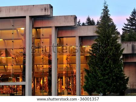 Anthropology Museum in University of British Columbia Campus - stock photo