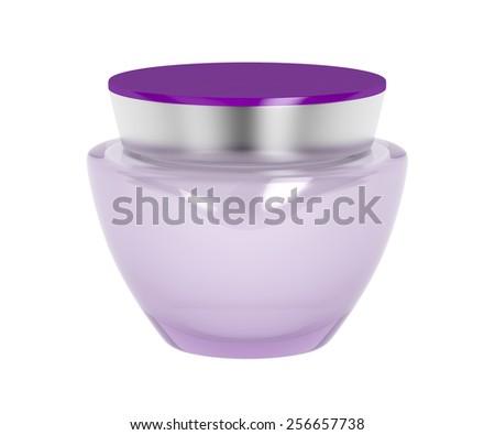 Anti-aging cream isolated on white - stock photo