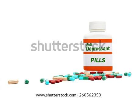 Anti Depressant - stock photo