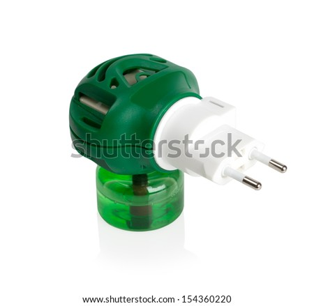 Anti-mosquito fumigator isolated on white with clipping path - stock photo