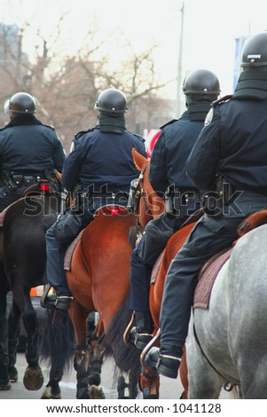 Anti-Riot Police on horse back  1