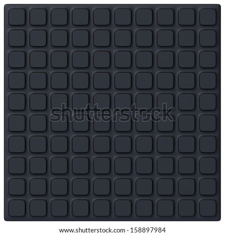 Anti slip rubber mat - stock photo