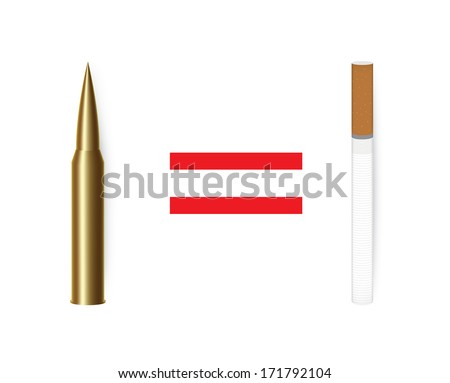 Anti tobacco concept. Isolated on white. - stock photo