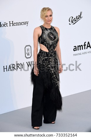 ANTIBES, FR - May 25, 2017: Diane Kruger at the 24th amfAR Gala Cannes at the Hotel du Cap-Eden-Roc, Antibes