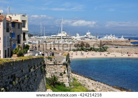 Antibes, France - april 15 2016 : the seaside