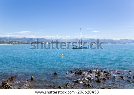 ANTIBES, FRANCE - JUNE 25, 2013: Photo of French Riviera