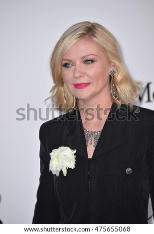 ANTIBES, FRANCE - MAY 19, 2016: Actress Kirsten Dunst at the amfAR Cinema Against AIDS Gala 2016 at the Hotel du Cap d'Antibes.