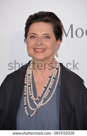 ANTIBES, FRANCE - MAY 21, 2015: Isabella Rossellini at the 2015 amfAR Cinema Against AIDS gala at the Hotel du Cap d'Antibes, as part of the 68th Festival de Cannes.