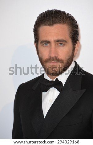 ANTIBES, FRANCE - MAY 21, 2015: Jake Gyllenhaal at the 2015 amfAR Cinema Against AIDS gala at the Hotel du Cap d'Antibes, as part of the 68th Festival de Cannes. - stock photo