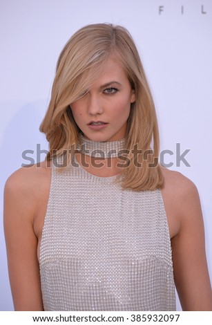 ANTIBES, FRANCE - MAY 21, 2015: Karlie Kloss at the 2015 amfAR Cinema Against AIDS gala at the Hotel du Cap d'Antibes, as part of the 68th Festival de Cannes.