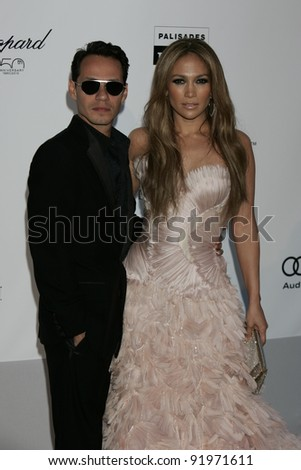 ANTIBES - MAY 20: Jennifer Lopez, Mark Anthony at the AMFAR Cinema Against Aids Gala at the Hotel Du Cap on  May 20, 2010 in Antibes, France - stock photo