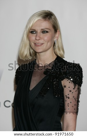 ANTIBES - MAY 20: Kirsten Dunst at the AMFAR Cinema Against Aids Gala at the Hotel Du Cap on  May 20, 2010 in Antibes, France - stock photo