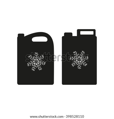 Antifreeze. Silhouette. Canister. - stock photo