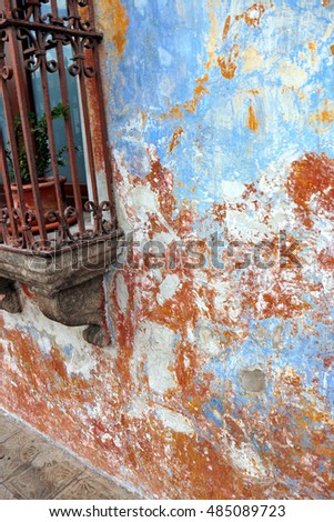 Antigua Guatemala window and wall