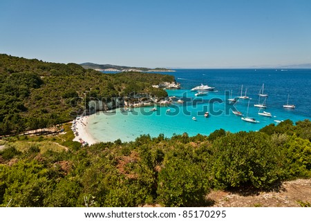 Antipaxoi Voutoumi Beach Greece