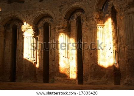 antique arcs inside the church of New Jerusalem