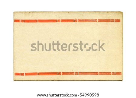 Antique art deco post card front - stock photo