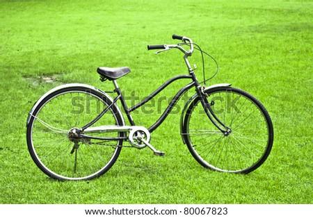 Antique Bicycle - stock photo