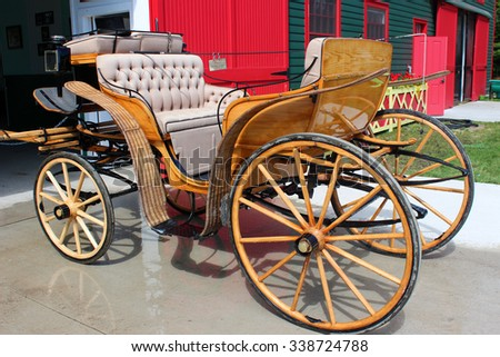 Antique Buggy on Display - stock photo