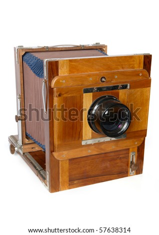 Antique Camera on the white background